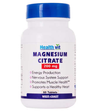 Healthvit Magnesium Citrate 200mg Capsule