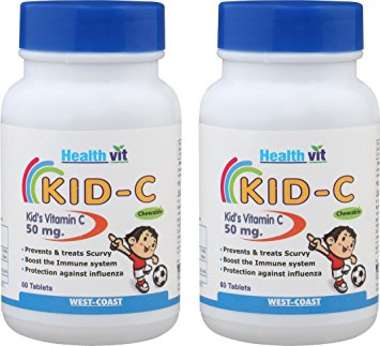Healthvit Kid-c 50mg Tablet (pack Of 2) Tablet