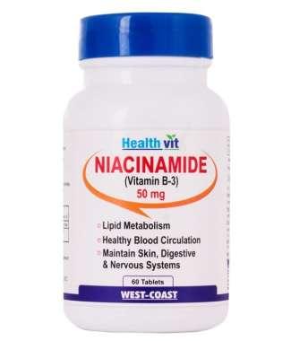 Healthvit Niacinamide 50mg Tablet