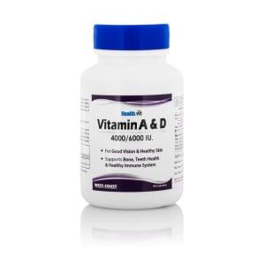 Healthvit Vitamin A & D 4000/6000 Iu Capsule