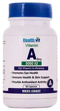 Healthvit Vitamin A Dry 5000iu Capsule