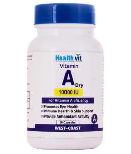 Healthvit Vitamin A Dry 10000iu Capsule