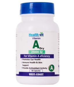 Healthvit Vitamin A Dry 25000iu Capsule
