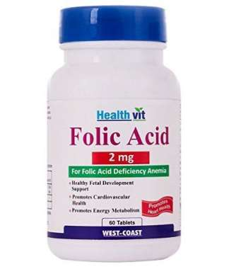 Healthvit Folic Acid 2mg Tablet