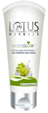 Lotus Herbals Whiteglow Active Skin Whitening & Oil Control Face Wash 100 G