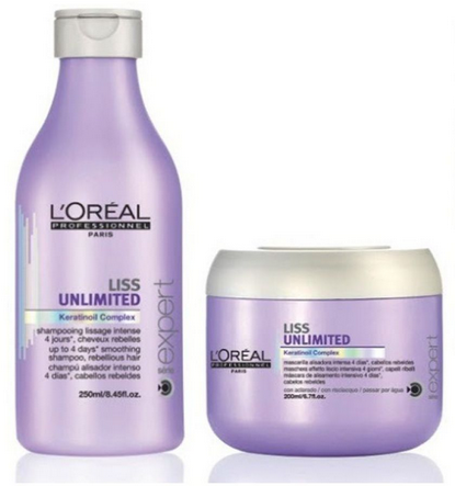 L'oreal Professional Liss Unlimited Shampoo + Conditioner 230 Ml Pack Of 2