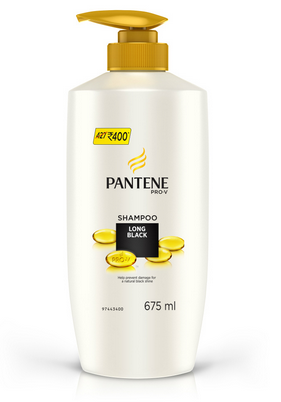 Pantene Long Black Shampoo 675 Ml