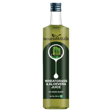 Nourishvitals Wheatgrass And Aloevera Juice