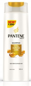 Pantene Pro-v Total Damage Care Shampoo 340 Ml