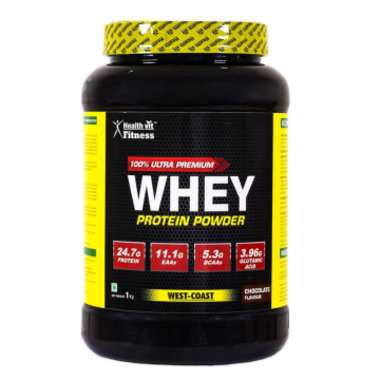 Healthvit 100% Ultra Premium Whey Protein Powder Chocolate