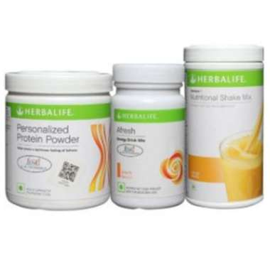 Herbalife Formula 1 500gm (orange), Personalizes Protein Powder 200gm And Afresh Energy Drink Mix 50