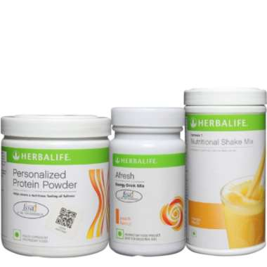 Herbalife Formula 1 500gm (mango), Personalizes Protein Powder 200gm And Afresh Energy Drink Mix 50g