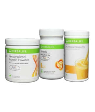 Herbalife Formula 1 500gm (orange), Personalizes Protein Powder And Afresh Energy Drink Mix (lemon)