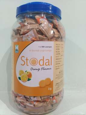 Stodal Cough Lozenges Orange Flavour Tablet Orange