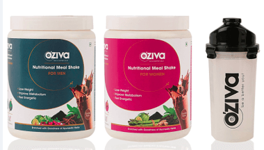 Oziva Nutritional Meal Shake (meal Replacement) 'his & Her' (pack Of 2) 500gm, Chocolate With Fr