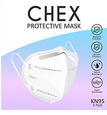 Chex KN95 Protective Mask - White (Pack of 5)