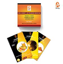 Covid-19 Immunity + Anti Inflammatory Booster Pack (Curcumin Strips + Vitamin C Strips + Vitamin D S