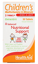HealthAid Childrens Multivitamins & Minerals Tablet 30's