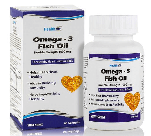 HealthVit Omega - 3 Fish Oil Double Strength 1000 mg Softgel 60's