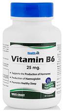 HealthVit Vitamin B6 25 mg Capsules 60's