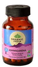 Pack of 4 Organic India Ashwagandha Veg Capsules 60's