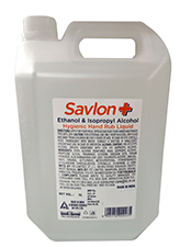 Pack of 2 Savlon Hygienic Hand Rub Liquid 5 litre